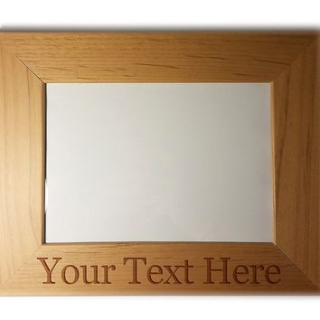 Customized 3D Laser Engraved Personalized Wooden Custom Picture Frame (6x8)