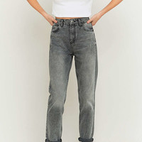 BDG Acid Washed Grey Mom Jeans - Urban Outfitters