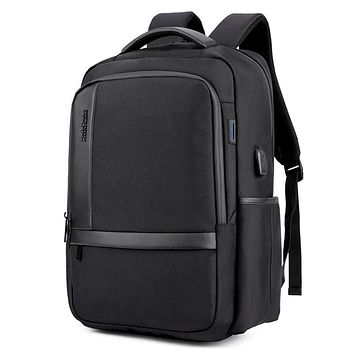 Guys Large Capacity Laptop Backpack with USB Charging Port