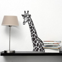 Wall Decal Vinyl Sticker Decals Art Decor Design Giraffe Animals Jungle Safari Kids Children Nursery Baby Living Room Bedroom Modern(r242)
