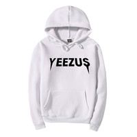 Yeezus Women Men Top Pattern Print Plus Velve Sweater Hoodie