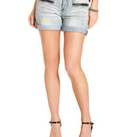 Dollhouse Shorts, 4 Cuff with Front Zip Short - Juniors Shorts - Macy's