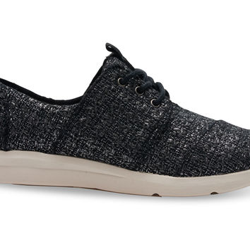 BLACK GLITTER WOOL WOMEN'S DEL REY SNEAKERS