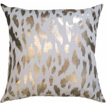 Better Homes and Gardens Golden Cheetah, Luxurious Gold Foil Reversible Pillow - Walmart.com