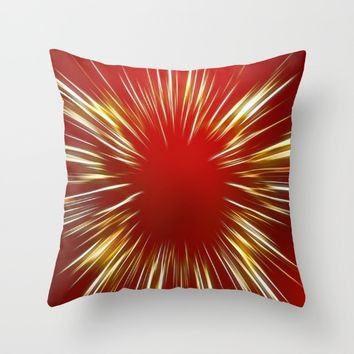 Festive Light Throw Pillow by Colorful Art