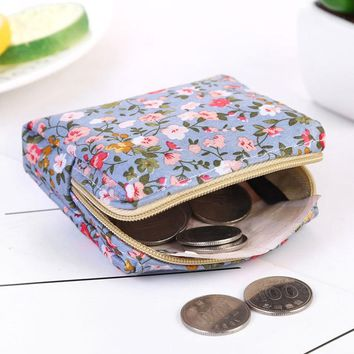 2017 New Traditional style Small floral Purse The First Children Satin Coin Purse zipper Change Wallet for Kids Girl Women