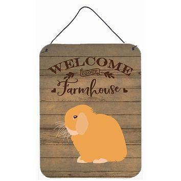 Holland Lop Rabbit Welcome Wall or Door Hanging Prints CK6912DS1216