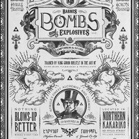 Legend of Zelda Bombs of Hyrule Vintage Poster Museum Quality Giclèe Art Print 16 x 20