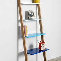 Assembly Home Leaning Bookcase- Blue Multi One