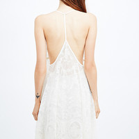 Kimchi Blue Lace Slip Dress in Ivory - Urban Outfitters