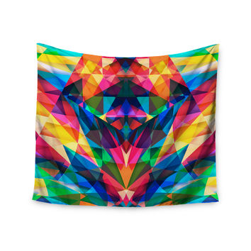 "Danny Ivan ""Day We Met"" Rainbow Geometric Wall Tapestry"