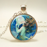 Mermaid Necklace, Fantasy Pendant, Henry O'Hara Clive (1037S1IN)
