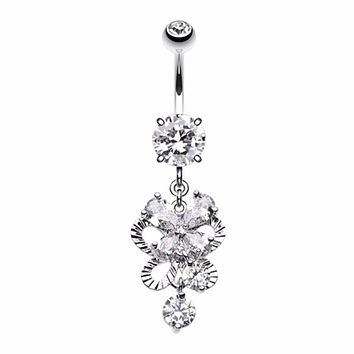 Exuberant Chandelier Belly Button Ring