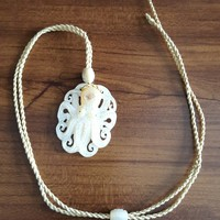 Mother of Pearl Tako Octopus Necklace