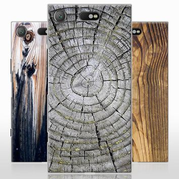 Sony Xperia XZ1 Phone Case Wood Pattern Cover