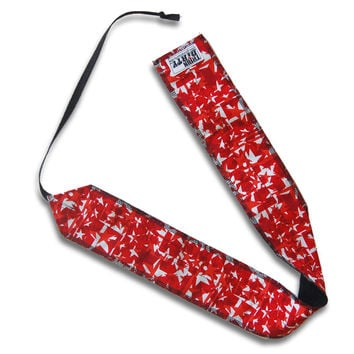 Red Stars Workout Wrist Wraps from Beastette Apparel
