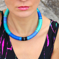 Unicorn Choker Necklace African Necklace Choker Necklaces Ethnic Necklace African Jewelry Tribal Necklace Festival Fashion Gift For Her