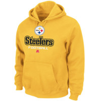 Pittsburgh Steelers Majestic Critical Victory V Pullover Hoodie – Yellow