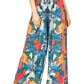 Palm Paradise Wide-Leg Pants
