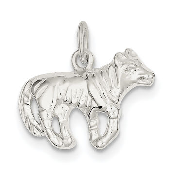 Sterling Silver Wolf Charm QC1782