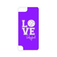 Love Volleyball, Violet Purple iPod Touch 5 Case