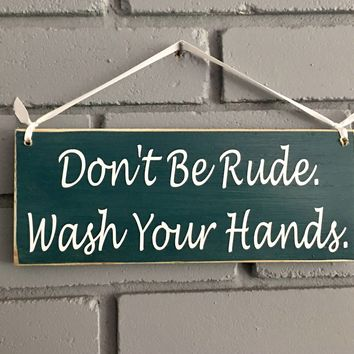 10x4 Wash Your Hands Wood Sign
