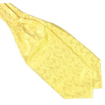 Men's Yellow Paisley Gentleman Collection Ascot/Cravat Tie