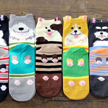 Cute Dogs Socks - Single Pair
