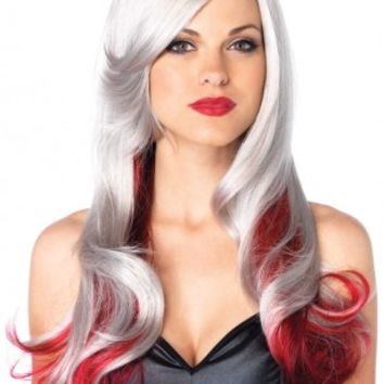 1 PC Allure Grey Red Wavy Wig @ Amiclubwear costume Online Store,sexy costume,women's costume,christmas costumes,adult christmas costumes,santa claus costumes,fancy dress costumes,halloween costumes,halloween costume ideas,pirate costume,dance costume,co