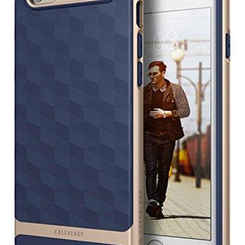 iPhone 6S Case, Caseology [Parallax Series] Slim Dual Layer Textured Geometric Corner Cushion Design [Navy Blue] for Apple iPhone 6S (2015) & iPhone 6 (2014)