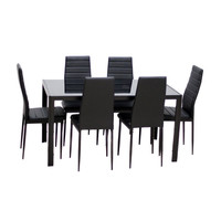Home Dining Kitchen Furniture Set with Glass Top