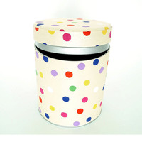 "Polka dot kitchen canister, coffee and tea, Japanese style ""Konpeito"""