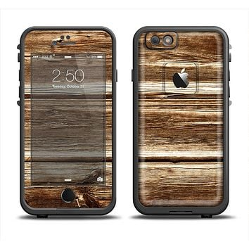 The Dark Highlighted Old Wood Apple iPhone 6/6s LifeProof Fre Case Skin Set