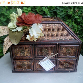 ON SALE Wedding Card Box / Rustic Wedding Wooden trunk Wishes Holder / Wedding Decor