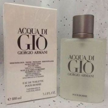 ONETOW Acqua Di Gio 3.4 Oz. Men SPRAY EDT COLOGNE **NEW IN BOX** GIORGIO ARMANI