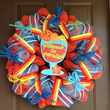 Welcome to Paradise wreath