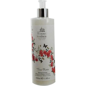 Woods Of Windsor True Rose By Woods Of Windsor Moisturizing Hand And Body Lotion 11.8 Oz