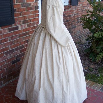 Beige w/White Floral Civil War Dress**38