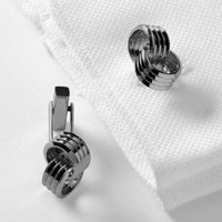 Banana Republic Mens Knot Cuff Links Size One Size - Gunmetal