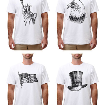 Independence Day (United States) Cotton Round Neck Men T-shirt MTS_00