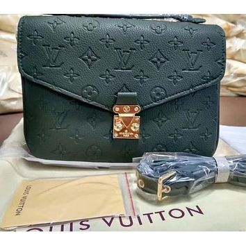 LV Louis Vuitton Trending Women Candy Color Shopping Leather Shoulder Bag Handbag Crossbody Green I