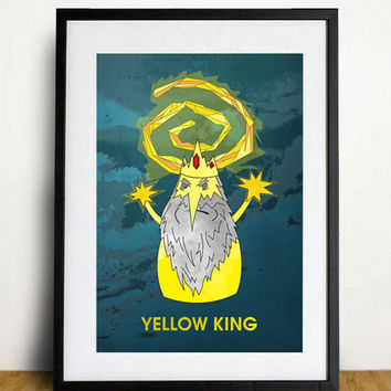 NEW  True Detective Yellow king poster adventure time mashup