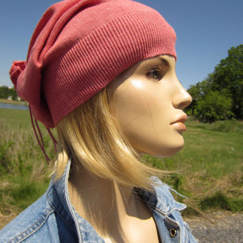Lightweight Slouchy Beanie Hat Baggy Back Tube Tam Cotton Spring Blue A1299/1357