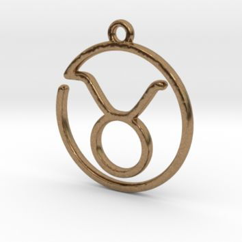 Taurus Zodiac Pendant by Jilub on Shapeways