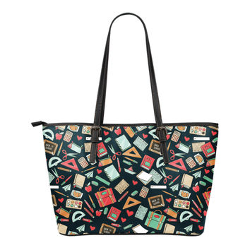 Teacher Pattern Tote Bag