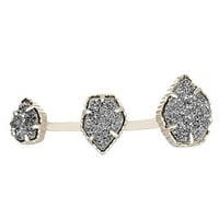 Naomi Double Ring in Platinum Drusy - Kendra Scott Jewelry