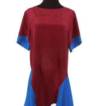 Emilio Pucci Burgundy & Blue Dress