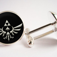 Legend of Zelda Cufflinks (silver/bronze)