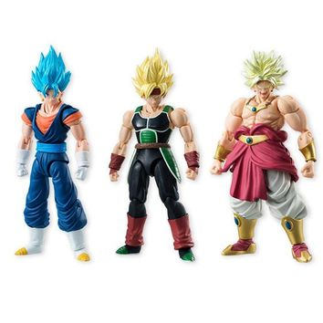 BANDAI Dragon Ball Z Tamashii Nations SHODO Vol.5  Vegetto & Bardock & Broly