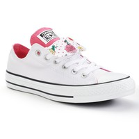 Converse Chuck Taylor All Star Women's Double-Tongue Sneakers (White)
